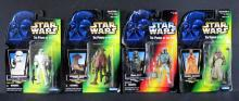 STAR WARS - FOUR CARDED ACTION FIGURES Kenner. Includes four 4