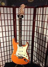 Fender squire stratocaster custom distressed guitar