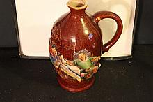 GREAT OLD GERMAN BEER PITCHER RAISED GRAPHICS VERY COLORFUL 10