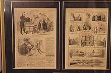 ORIGINAL 1861 HARPERS WEEKLY FRAMED AND IN GOOD CONDITION 33 X 23