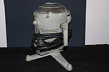 HEADLIGHT SHAPED SEARCHLIGHT - CAST ALUMINUM W/ TRIPOD BASE - WORKS EXCELLENT BY STANCO - MINT