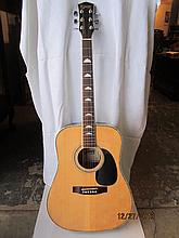 GREAT BURNS ACOUSTIC GUITAR W/ CUSTOM CASE - EXC.