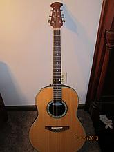 GREAT OVATION 6 STRING ACOUSTIC GUITAR MODEL CC11(CELEBRITY) WITH CUSTOM HARD SHELL CASE