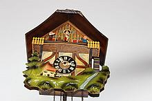 ORNATE CUCKOO CLOCK COMPLETE AND WORKING - GREAT COLORS