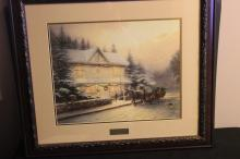 VICTORIAN XMAS IV BY THOMAS KINKADE - LIBRARY ADDITION - MINT 28 X 30