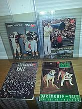 Lot of four official Yale college football programs:- Brown vs Yale 1959 - Brown vs yale 1957 - Dartmouth vs yale 1955 - Dartmouth vs yale 1959