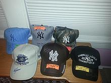 Lot of six yankee past and present stars autographs to include Rivera, don Zimmer, Bernie williams,
