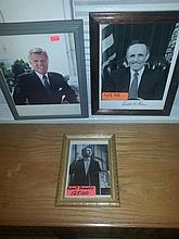 Political autographs lot to include Rudy Giuliani,  ted Kennedy and robert Kennedy