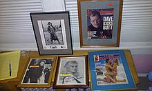 Lot of five movie star autographs to include David Letterman, loni Anderson, David Caruso etc
