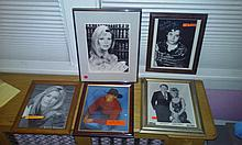 Movie star autograph lot to include Kim bassinger, Elijah wood, pat sajak & vanna white etc.