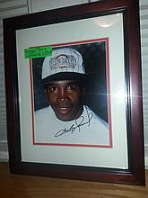 Boxer sugar ray framed autograph with coa