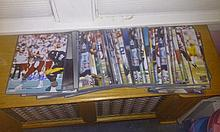 Massive lot of between 50-60 past football star 8x10 autographs, some multiples, hof, stars include Steve grogen, Jeff George, Larry centers plus so many more