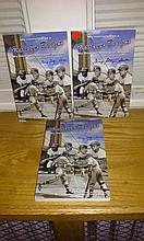 Lot of three George shuba autographed books titled my memories as a Brooklyn dodger