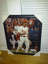 Very nice framed Dennis eckersley autographed photo