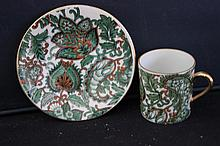 BEAUTIFUL CUP AND SAUCER - ROYAL PAISLEY 2571