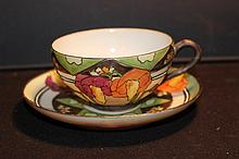 LOVELY HAND-PAINTED ORIENTAL RAISED HAND-PAINTED DESIGNS MINT 2.44
