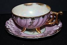 FINE CHINA JAPAN OPEN LACE SAUCER MINT