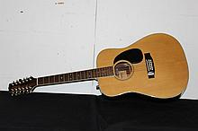 JASMINE 12 STRING ACOUSTIC GUITAR NEAR MINT CONDITION #017052