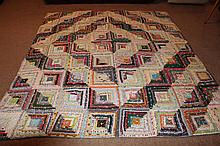 GREAT HANDMADE PATCHWORK QUILT HAS SOME REPAIRS TO BE MADE GOOD COLORS 93 X 83