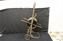 EARLY HOSE REEL W/ CAST IRON WHEELS GOOD CONDITION 35