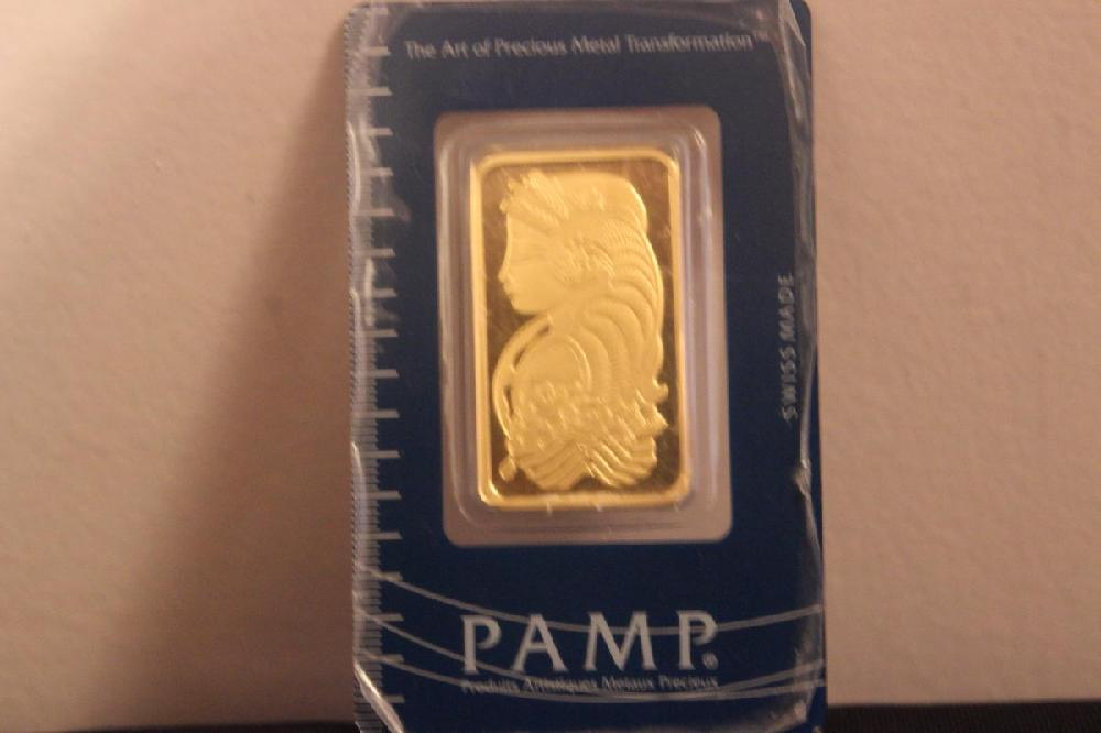 ONE TROY OUNCE FINE GOLD SWISS