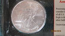 2009 UNCIRCULATED ONE OUNCE SILVER EAGLE IN ORIG. LITTLETON SEALED PACKAGE