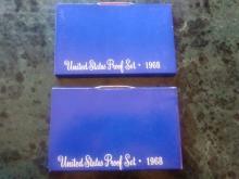 2 - 1968 U.S. PROOF SETS