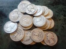 NICE LOT OF 29 1930'S WASHINGTON IN CUR. COND. $7.25 FACE