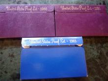 3 PROOF SETS - 1983 - 1984 -1985
