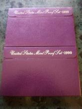 (2) 1990 PROOF SETS