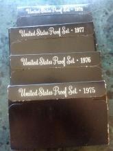 4 PROOF SETS - 1975 - 1976 -1977 -1978