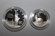 1986 LIBERTY COMMEMORATIVE PROOF SET - INCLUDES SILVER DOLLAR .77 TROY OUNCE - HALF-DOLLAR CLAD WITH COA