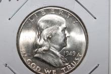 1949 FRANKLIN HALF-DOLLAR B.U. W/ MINT LUSTER