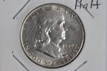 1949 FRANKLIN HALF-DOLLAR B.U. - MINT LUSTER