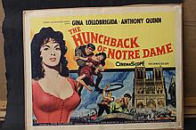 1957 MOVIE POSTER OF THE HUNCHBACK OF NOTRE DAME GINA LOLLOBRIGIDA - ANTHONY QUINN