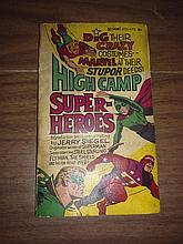 Vintage rare 1966 high camp superheroes paperback