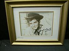 AUTOGRAPHED MICHAEL LANDON PHOTO FRAMED