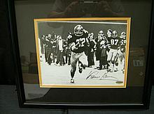 AUTOGRAPHED FRANCO HARRIS FRAMED PHOTO STEINER COA
