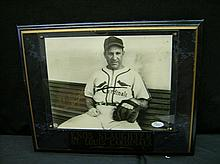 JSA CERTIFIED ENOS SLAUGHTER SIGNED PHOTO IN PLAQUE