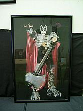 SIGNED GENE SIMMONS (KISS) CUSTOM POSTER