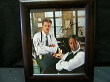 MORGAN FREEMAN / BRAD PITT DUAL AUTOGRAPHED FROM THE MOVIE SEVEN