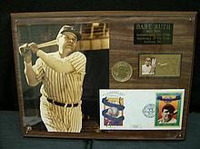 BABE RUTH 100TH ANNIVERSARY COMMEMORATIVE PLAQUE