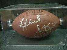 DUAL TROY AIKMAN/EMMITT SMITH AUTOGRAPHED FOOTBALL