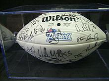 1998 NEW ENGLAND PATRIOTS TEAM SIGNED FOOTBALL