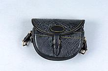 AN OSTRICH LEATHER CARTRIDGE BAG for about 100