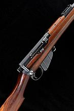 BSA A .303 GIBBS RETAILED LONG LEE ENFIELD SERVICE RIFLE, NO. L95917592 30 1/4-inch barrel with ramp fore sight and fitted with the Alex Martin folding optical fore sight, folding ladder rear sight, the receiver with magazine cut-off and detachable