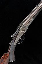 ALEX HENRY A .350 BLACK POWDER SIDELOCK NON-EJECTOR RIFLE, NO. 6338 26-inch damascus barrels with machined rib and folding rear sight and engraved with the legend ''Maker to Their Royal Highnesses the Prince of Wales and Duke of Edinburgh'', Henry