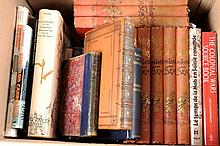 A COLLECTION OF BOOKS ON GUNS AND SHOOTING including ''Ancient Armour & Weapons in Europe''; Stone's Glossary of Arms & Armour; ''British Battles on Land and Sea'', 8 vols; ''The Gun and Its Development'', 9th edition, etc