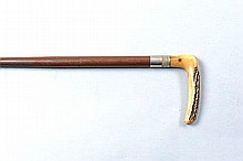 A .410 WALKING STICK SHOTGUN, NO. 18266 25