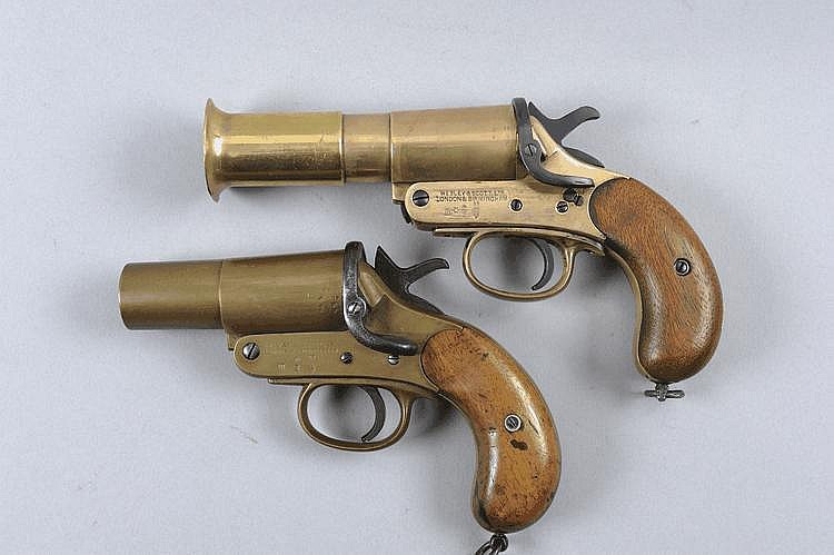WEBLEY & SCOTT TWO 1-INCH VERY PISTOLS, NOS. 78934